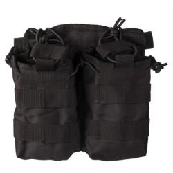 Open top Molle double Magazine pouch, black