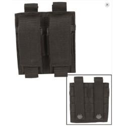 Pistol Molle double Magazine pouch, black