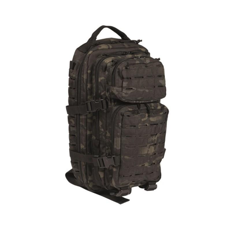 Backpack US Assault Laser cut small 20L, Multitarn black