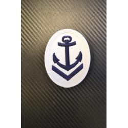 Восточно-германский флот знак, якорь на белом фоне, 1