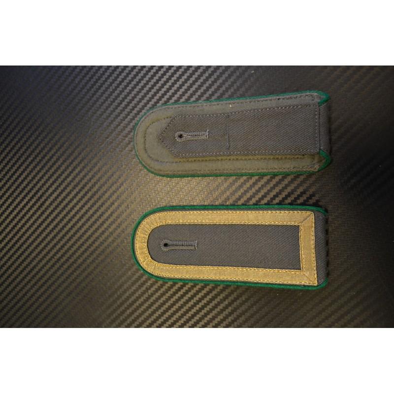 NVA epaulettes - Green side, golden ribbon (closed) on grey background