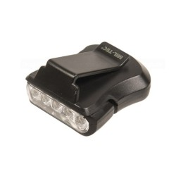 Klamberlamp 5 LED-iga, must