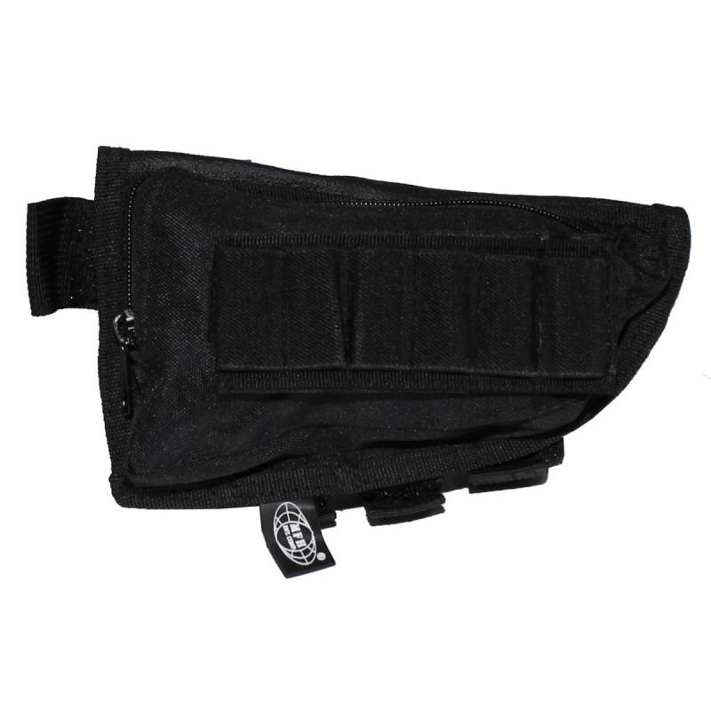 Rifle stock bag, black
