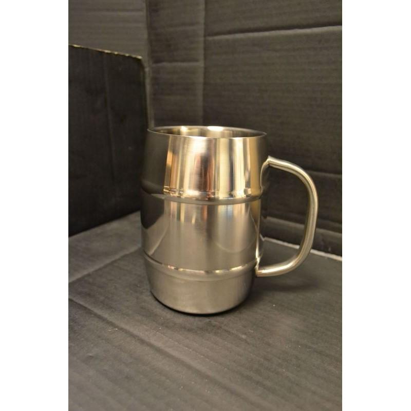 "Mug, ""Barrel"", stainless steel, 1L"