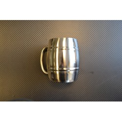 "Mug, ""Barrel"", stainless steel, 450ml"