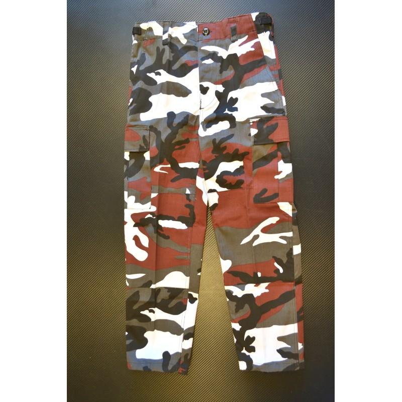 Laste BDU style püksid, Red Camo