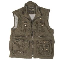 Vintage Survival vest, oliivroheline