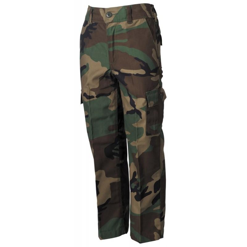 Kids BDU pants, woodland