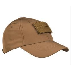Mil-tec Softshell baseball cap, dark coyote