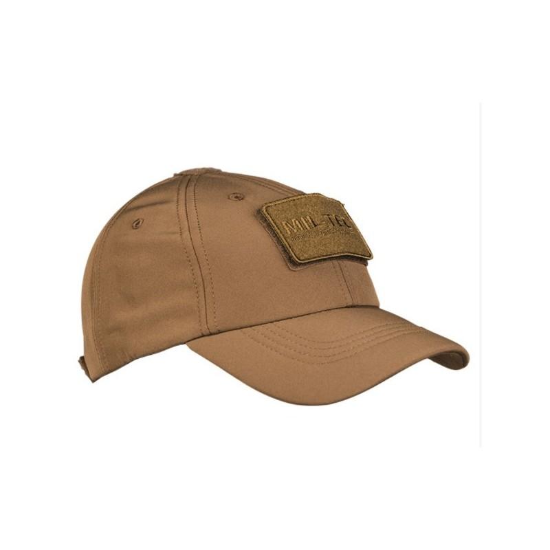 Футбольная кепка Mil-tec Softshell, темный койот