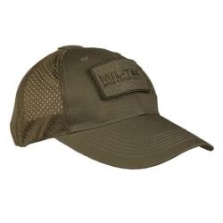 Mil-tec võrguga nokamüts, oliivroheline