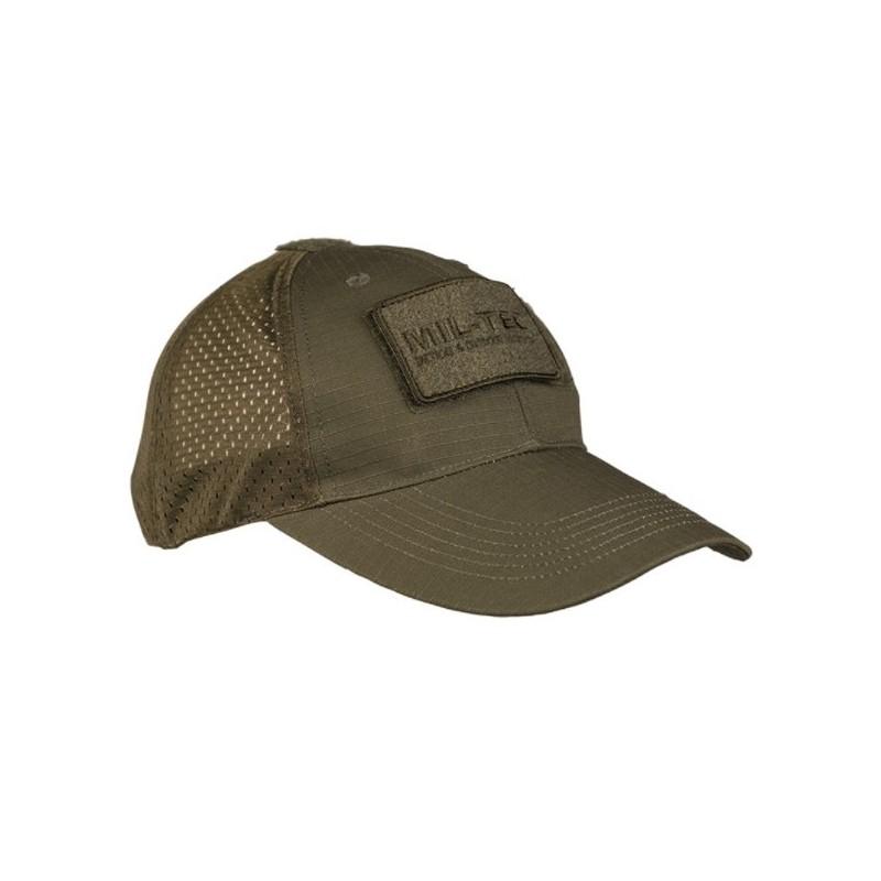 Mil-tec net baseball cap, od green