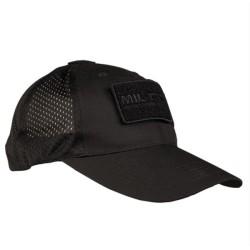 Mil-tec võrguga nokamüts, must