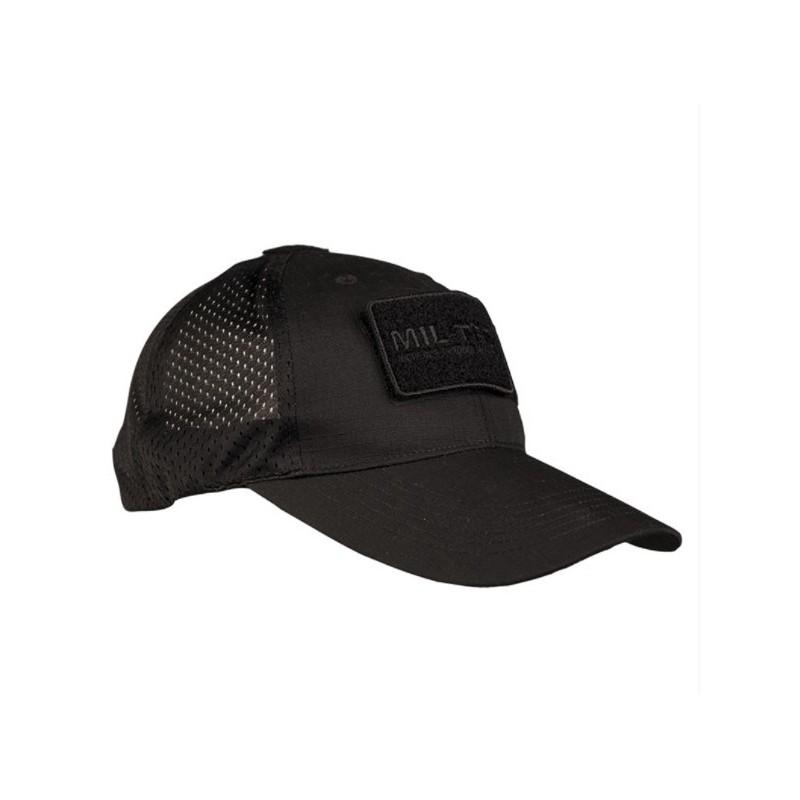 Mil-tec net baseball cap, black