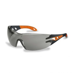 Защитные очки Uvex Pheos, черный / оранжевый