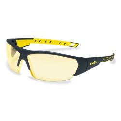 Защитные очки Uvex i-works, черный / желтый