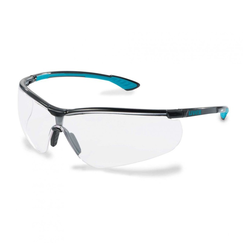 Safety glasses Uvex Sportstyle, black/blue