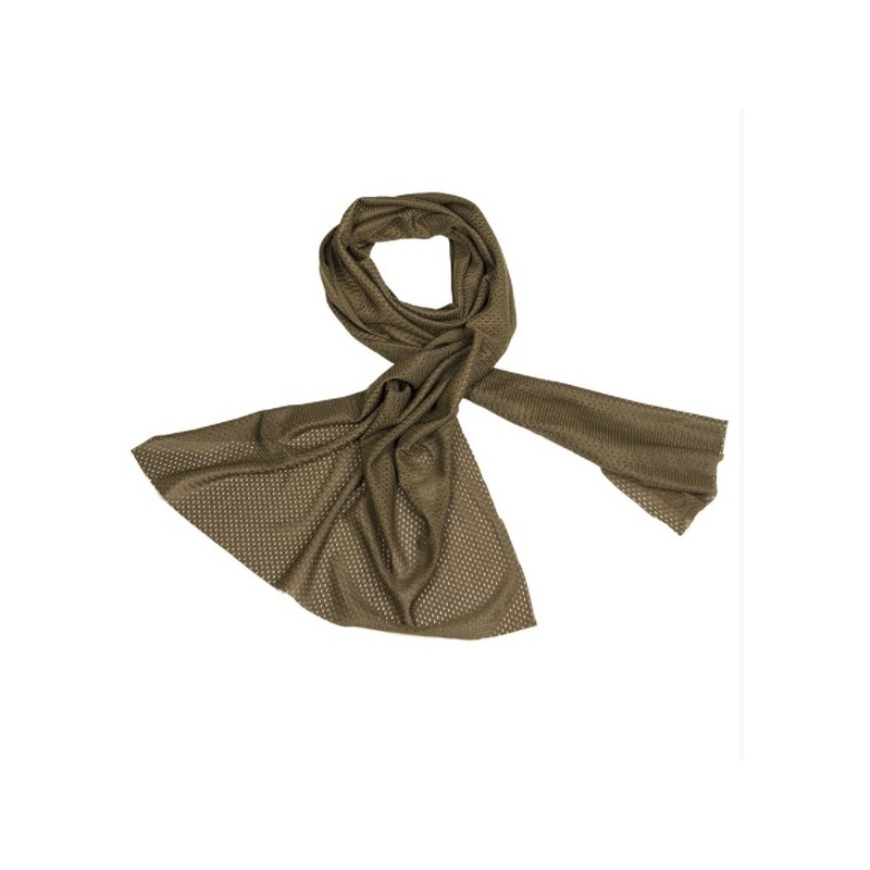 Mil-tec Mesh net scarf, od green