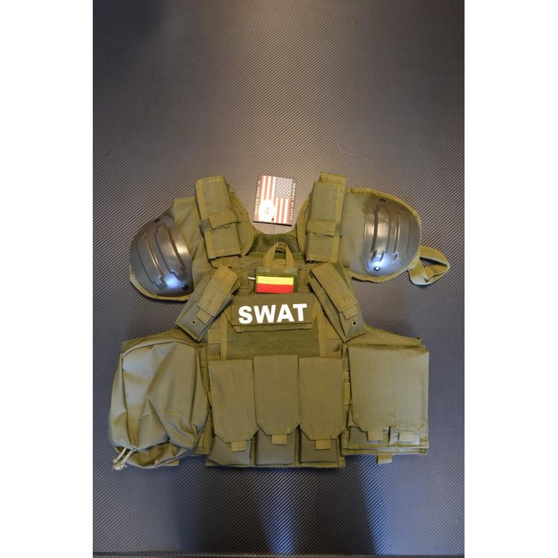 Vest Combat Modular, oliivroheline