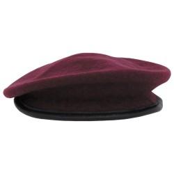 Commando barett, bordoo-punane