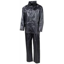 MFH дождя куртку и брюки набор, черный
