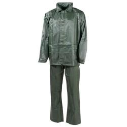 MFH дождя куртку и брюки набор, Зеленый