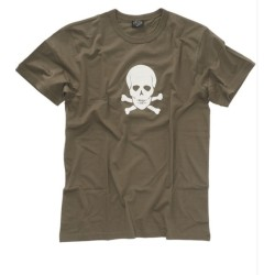 """Mil-tec T-särk - Pealuu """"Skull"""", oliivroheline"""