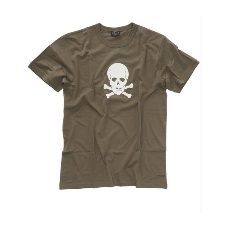 Mil-tec T-shirt - Skull, od green
