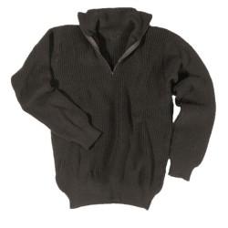 Mil-Tec свитер, Troyer, черный