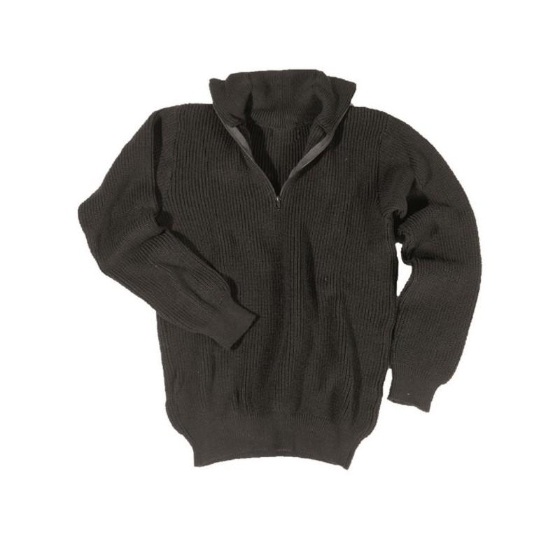 Mil-tec Sweater, troyer, black