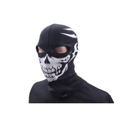 Thermo-active balaclava Skull, 2 holes, black