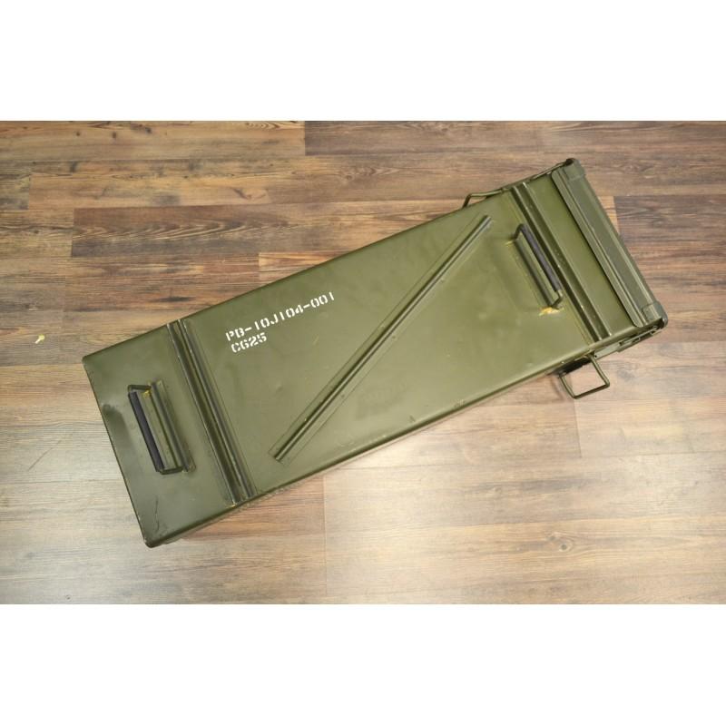 US ammunition case LG 120mm, green, used