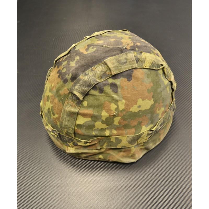 German helmet cover, double sided, flecktarn/tropentarn