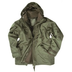 Mil-tec Wet weather jacket with fleece liner, od green