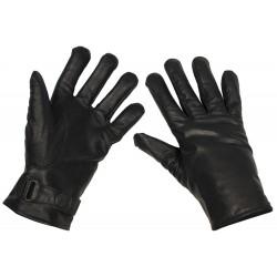 Кожаные перчатки BW, выстроились, черный
