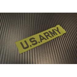 Riidest embleem, US ARMY, oliivroheline/must