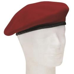 Немецкий подлинный берет, бордовый красный