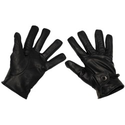 Западные перчатки, черный, кожа