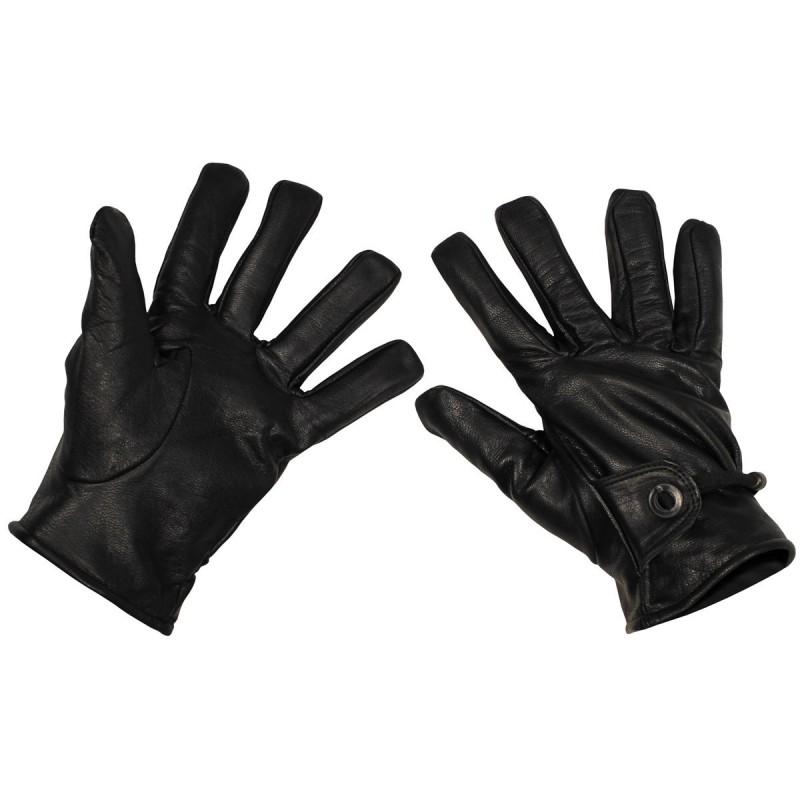 Western Gloves, black, leather