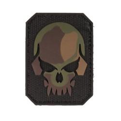 "Липучка знак, 3D ""Skull"", маленький, camo"