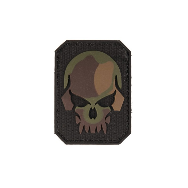 "Velcro sign, ""Skull"" 3D, small, camo"