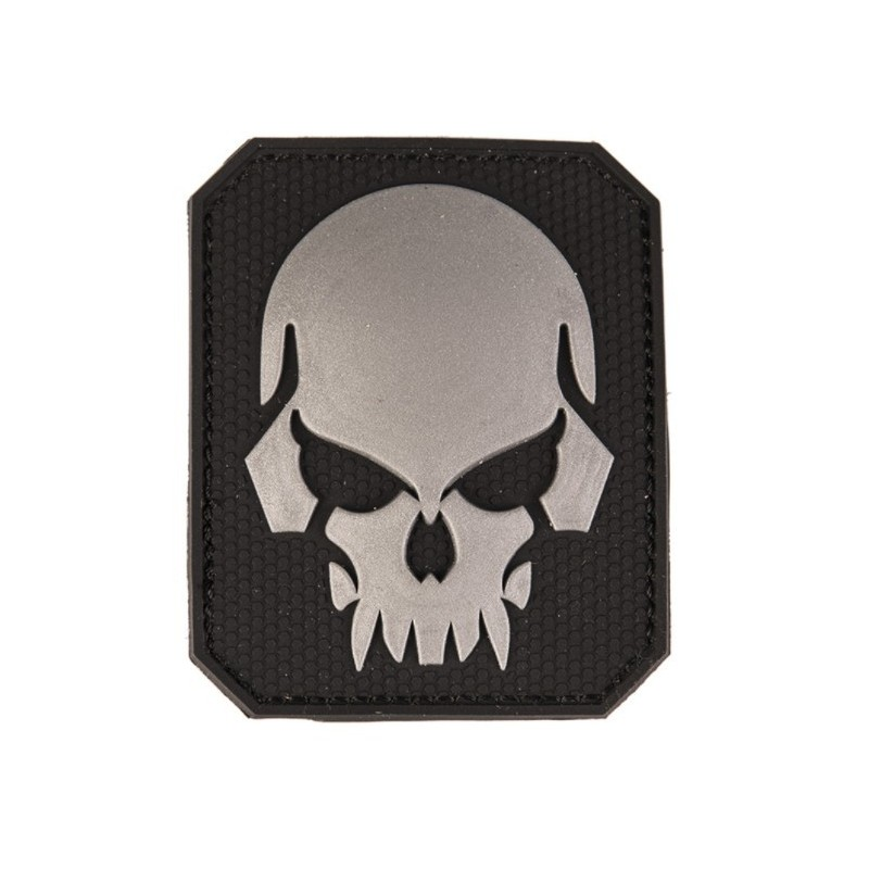 "Velcro märk Skull - pealuu"" 3D, must"