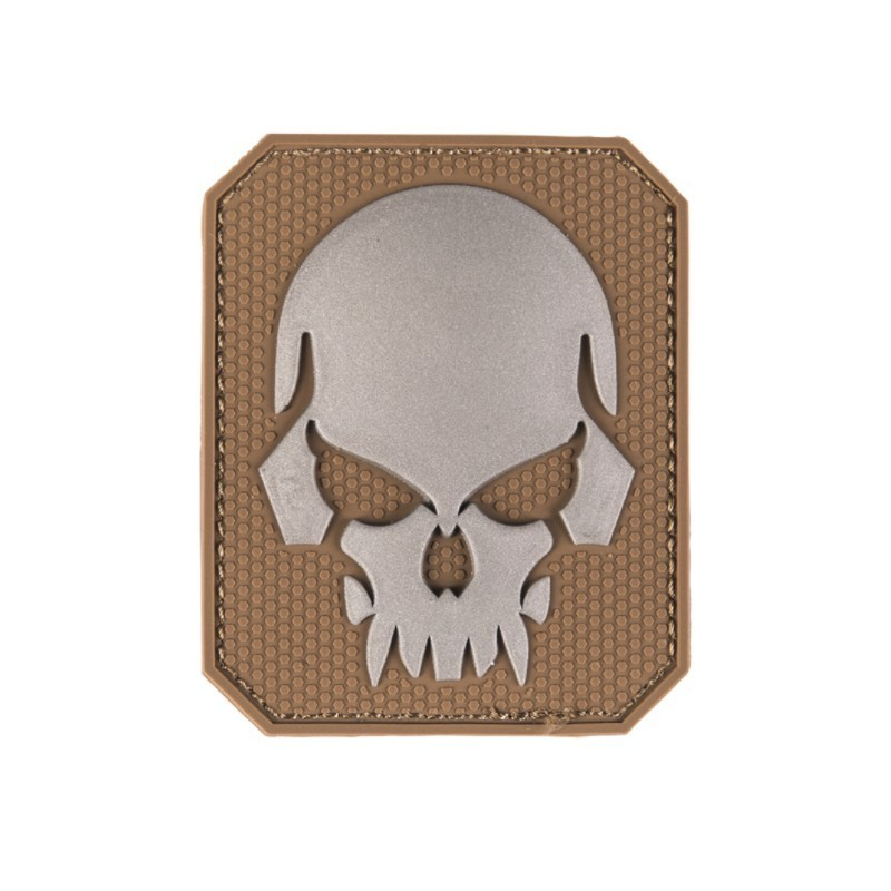 "Velcro märk Skull - pealuu"" 3D, dark coyote"