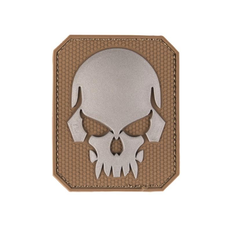 "Velcro sign, ""Skull"" 3D, dark coyote"