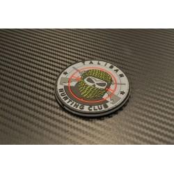 "Velcro märk ""Taliban Hunting Club"" 3D, must/hall/punane"