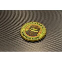 "Velcro märk ""Taliban Hunting Club"" 3D, must/roheline/punane"