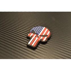 "Липучка знак, 3D ""Punisher US Flag"""