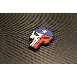 "Липучка знак, 3D ""Punisher Texas Flag"""