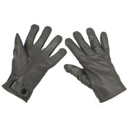Кожаные перчатки BW, выстроились, серый