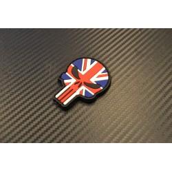 """Velcro sign, """"Punisher UK Flag"""" 3D"""